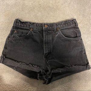 Vintage black Levi shorts